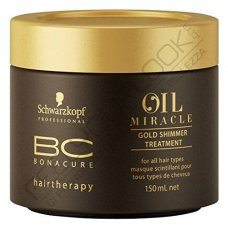 SCHWARZKOPF BONACURE OIL MIRACLE GOLD SHIMMER TREATMENT 150 ml / 5.07 Fl.Oz