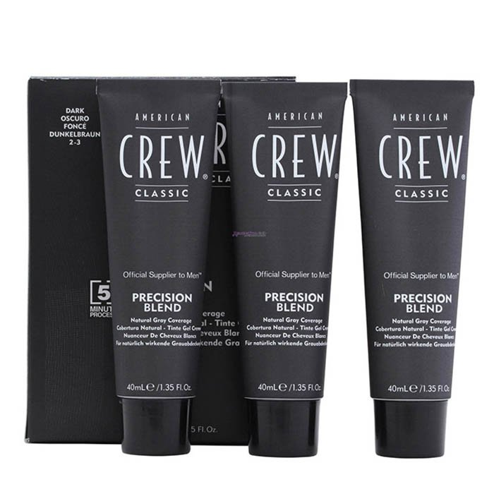 AMERICAN CREW PRECISION BLEND 2-3 DARK (NERO) 3 x 40 ml / 1.35 Fl.Oz
