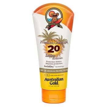 AUSTRALIAN GOLD PREMIUM COVERAGE SPF 20 LOTION SUNSCREEN 177 ml / 6.00 Fl.Oz