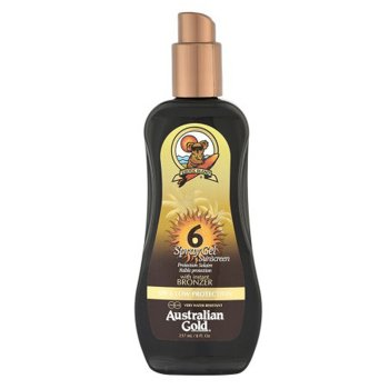 AUSTRALIAN GOLD SPF 6 SPRAY GEL SUNSCREEN BRONZER 237 ml / 7.00 Fl.Oz