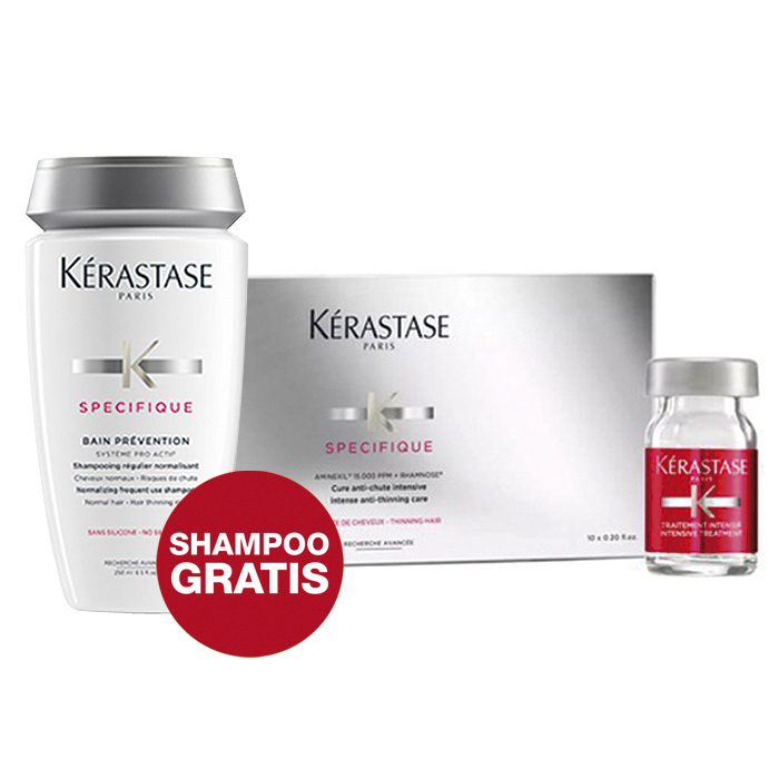 KERASTASE - PROGRAMMA ANTICADUTA (10 FIALE + BAIN PREVENTION in OMAGGIO)