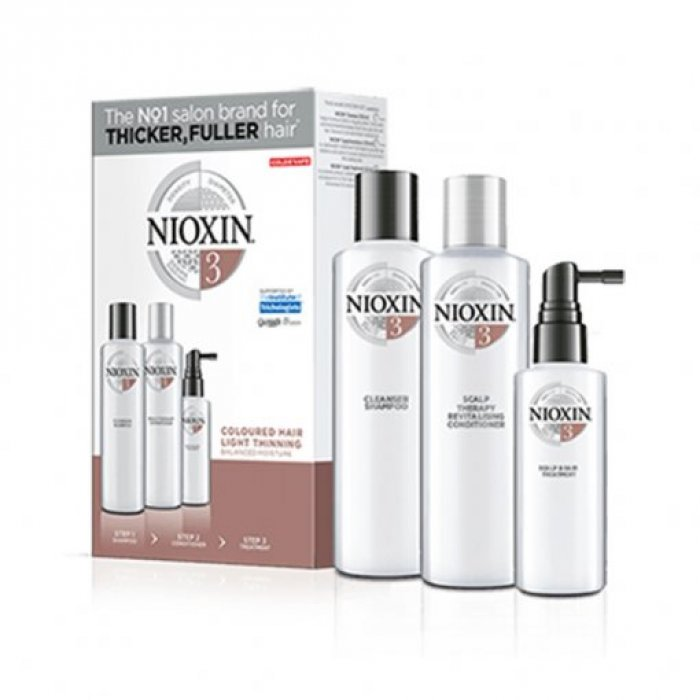 NIOXIN 3D CARE SYSTEM KIT 3 - CAPELLI COLORATI LEGGERMENTE DIRADATI - COLORED HAIR LIGHT THINNING