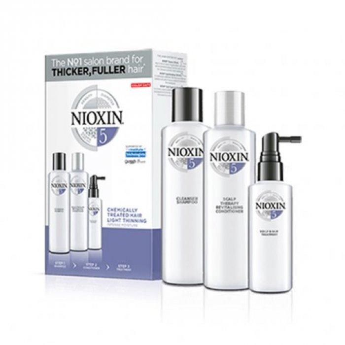 NIOXIN 3D CARE SYSTEM KIT 5 - CAPELLI TRATTATI LEGGERMENTE DIRADATI - CHEMICALLY HAIR LIGHT THINNING