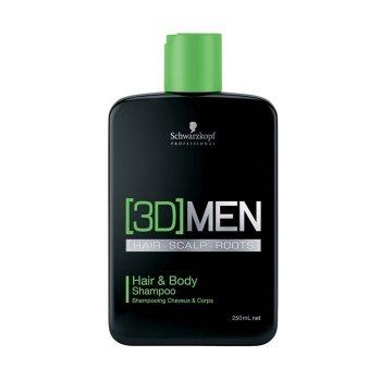 SCHWARZKOPF 3DMEN HAIR & BODY SHAMPOO 250 ml / 8.45 Fl.Oz