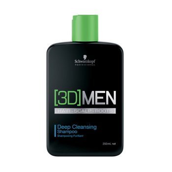 SCHWARZKOPF 3DMEN DEEP CLEANSING SHAMPOO 250 ml / 8.45 Fl.Oz