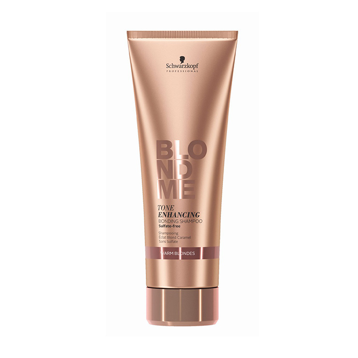 SCHWARZKOPF BLONDME TONE ENHANCING BONDING SHAMPOO WARM BLONDES 250 ml / 8.40 Fl.Oz