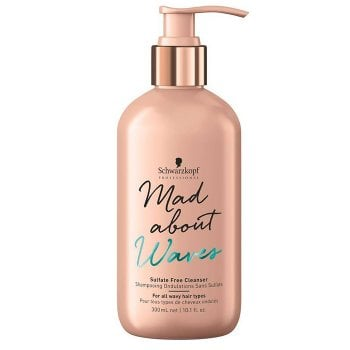 SCHWARZKOPF MAD ABOUT WAVES SULFATE FREE CLEANSER 300 ml / 10.10 Fl.Oz