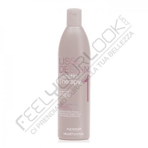 ALFAPARF LISSE DEEP CLEANSING SHAMPOO 500 ml / 16.90 Fl.Oz