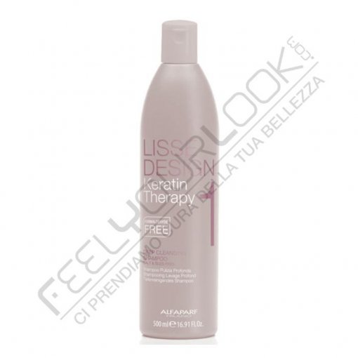 ALFAPARF LISSE DEEP CLEANSING SHAMPOO 500 ml / 16.90 Fl.Oz