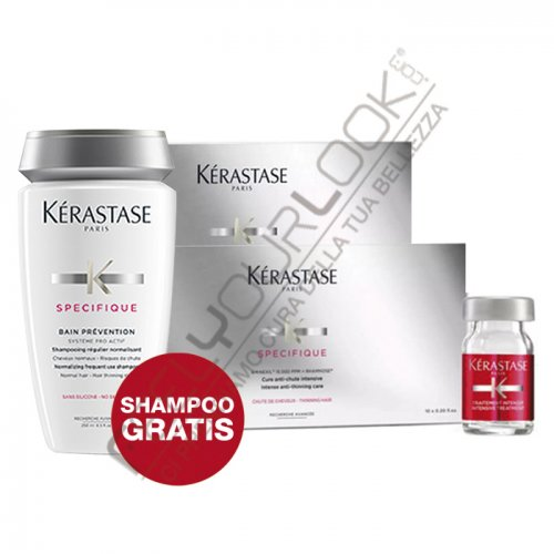 KERASTASE - PROGRAMMA ANTICADUTA (20 FIALE + BAIN PREVENTION in OMAGGIO)