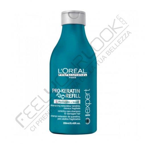 L'OREAL PRO KERATIN REFILL SHAMPOO 250 ml / 8.45 Fl.Oz