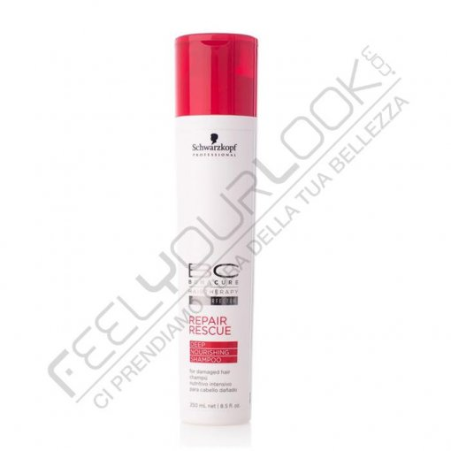 SCHWARZKOPF BONACURE REPAIR RESCUE DEEP NOURISHING SHAMPOO 250 ml / 8.45 Fl.Oz