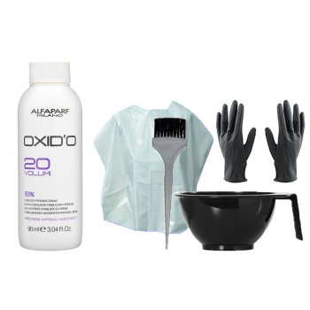 HAIR COLOR KIT AND ALFAPARF MINI OXIDO 20 VOL. (6%) 90 ml / 3.04 Fl.Oz