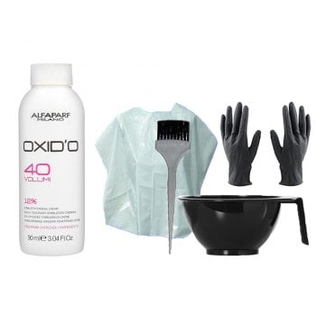 HAIR COLOR KIT AND ALFAPARF MINI OXIDO 40 VOL. (12%) 90 ml / 3.04 Fl.Oz