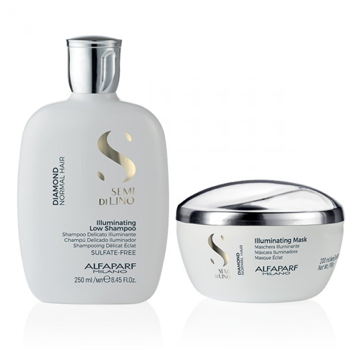 KIT ALFAPARF - SEMI DI LINO DIAMOND SHAMPOO E MASK