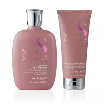 KIT ALFAPARF - SEMI DI LINO MOISTURE SHAMPOO E LEAVE-IN CONDITIONER