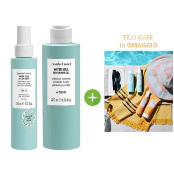 COMFORT ZONE WATER SOUL ECO SUN CREAM SPF30 - ECO SHOWER GEL E TELO MARE OMAGGIO