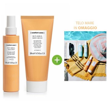 COMFORT ZONE SUN SOUL MILK SPF30 - BODY CREAM Y TOALLA DE MAR GRATIS