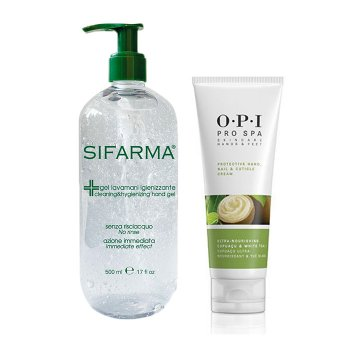 KIT HAND CLEANSING GEL 100 ml + 500 ml AND OPI PRO SPA HAND CREAM 50 ml