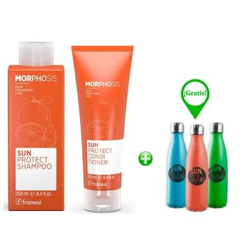 FRAMESI MORPHOSIS SUN SUN PROTECT SHAMPOO E CONDITIONER - FREE BYO BOTTLE
