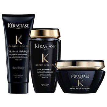 KERASTASE - CHRONOLOGISTE KIT BAIN - MASQUE - PRE CLEANSE REGENERANT