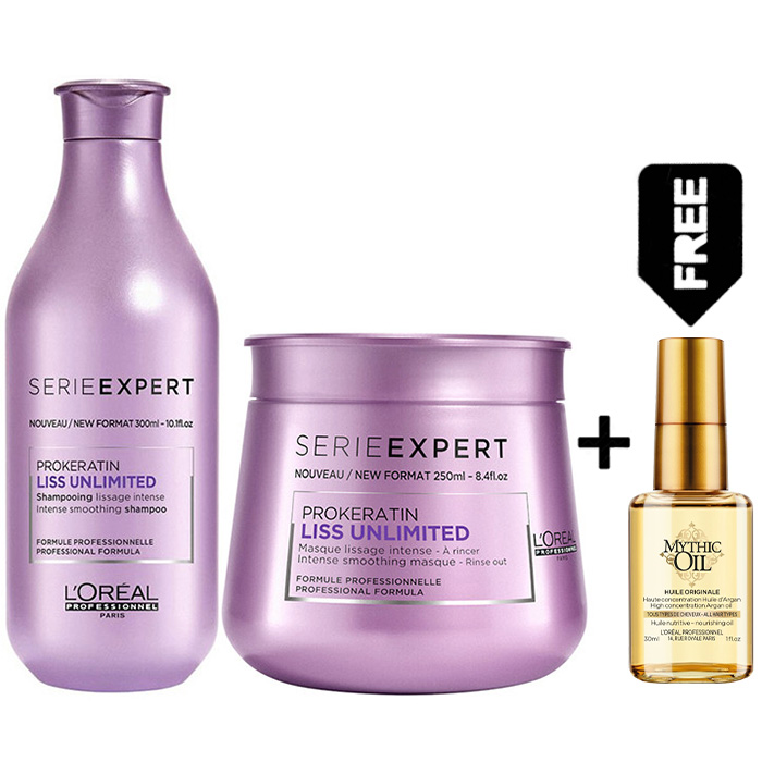 L'OREAL SERIE EXPERT LISS UNLIMITED KIT