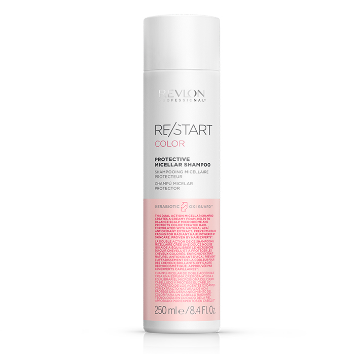 REVLON PROFESSIONAL RESTART COLOR PROTECTIVE MICELLAR SHAMPOO 250 ml / 8.40 Fl.Oz
