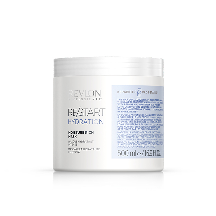 REVLON PROFESSIONAL RESTART HYDRATION MOISTURE RICH MASK 500 ml / 16.90 Fl.Oz