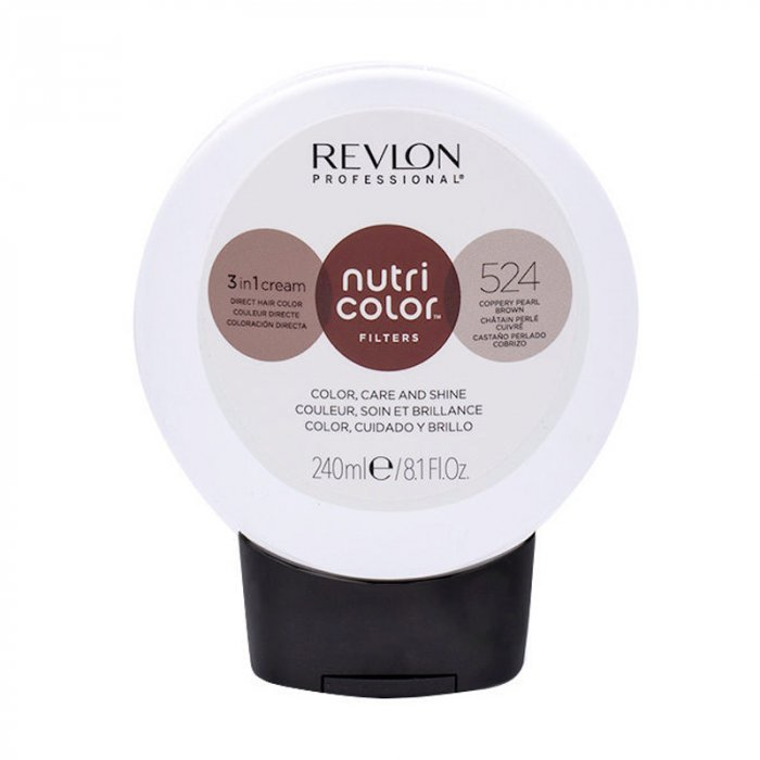 REVLON PROFESSIONAL NUTRI COLOR FILTERS 524 - CASTANO PERLATO RAMATO 240 ml / 8.10 Fl.Oz