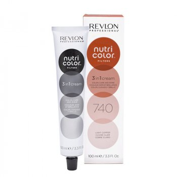 REVLON PROFESSIONAL NUTRI COLOR FILTERS 740 - LIGHT COPPER 100 ml / 3.30 Fl.Oz