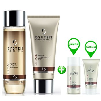 WELLA SYSTEM PROFESSIONAL KIT LUXE OIL SHAMPOO-CONDITIONER E MINI SHAMPOO + MINI MASK FREE
