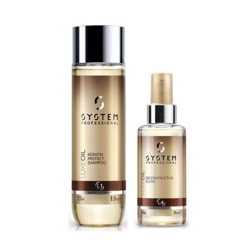 WELLA SYSTEM PROFESSIONAL KIT LUXE OIL SHAMPOO 250 ml AND ELIXIR 30 ml