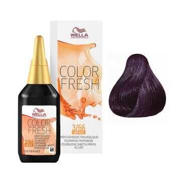 WELLA COLOR FRESH 3/66 - CASTANO SCURO VIOLETTO INTENSO 75 ml / 2.55 Fl.Oz