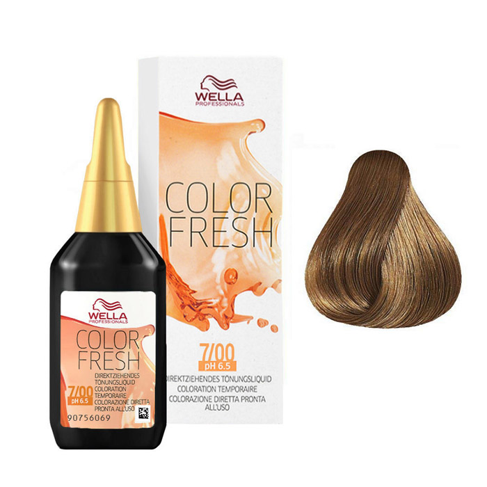WELLA COLOR FRESH 7/00 - BIONDO MEDIO NATURALE 75 ml / 2.55 Fl.Oz
