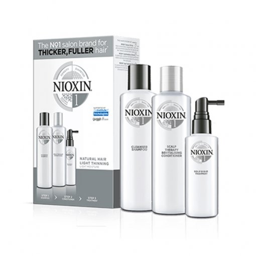 NIOXIN 3D CARE SYSTEM KIT 1 - CAPELLI NATURALI LEGGERMENTE DIRADATI - NATURAL HAIR LIGHT THINNING