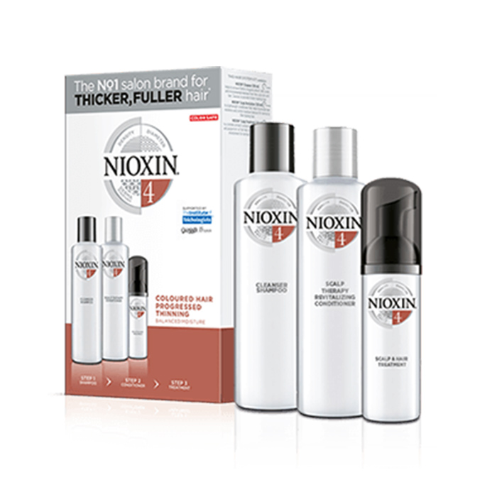 NIOXIN 3D CARE SYSTEM KIT 4 - CAPELLI COLORATI DIRADATI - COLORED HAIR PROGRESSED THINNING