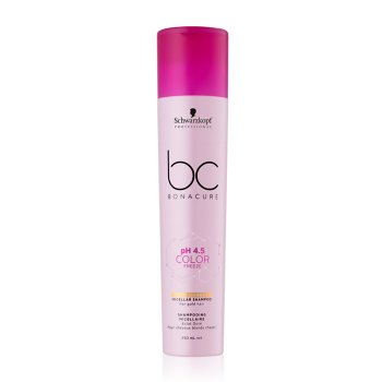 SCHWARZKOPF BC BONACURE PH4.5 COLOR FREEZE GOLD SHIMMER MICELLAR SHAMPOO 250 ml / 8.40 Fl.Oz